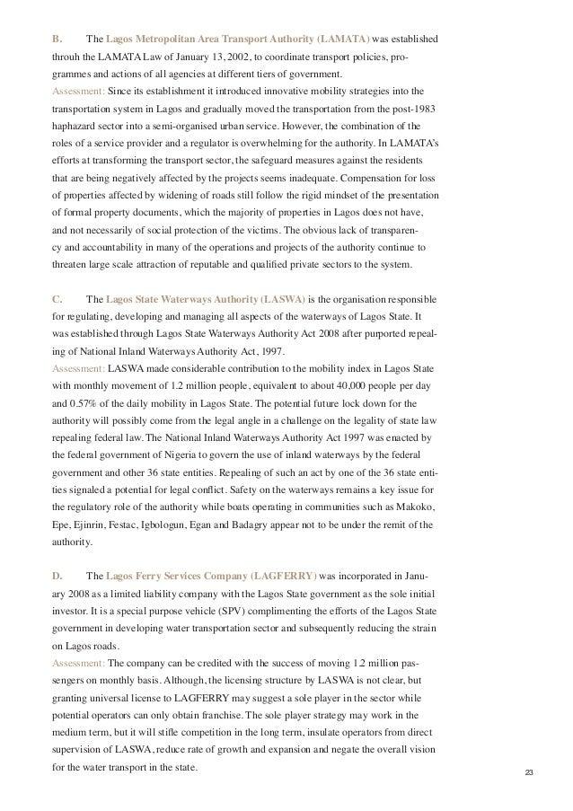 urban planning processes in lagos executive summary  24