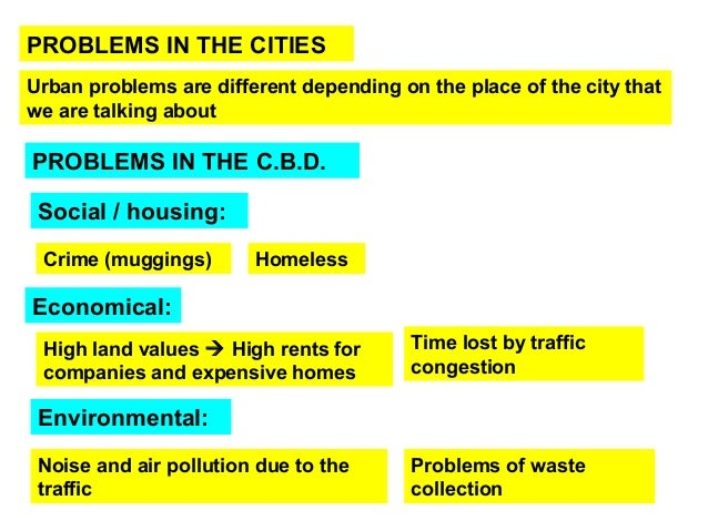 Urban problems in big cities of the developed