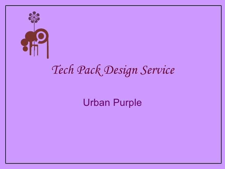 Tech Pack Design Service Urban Purple