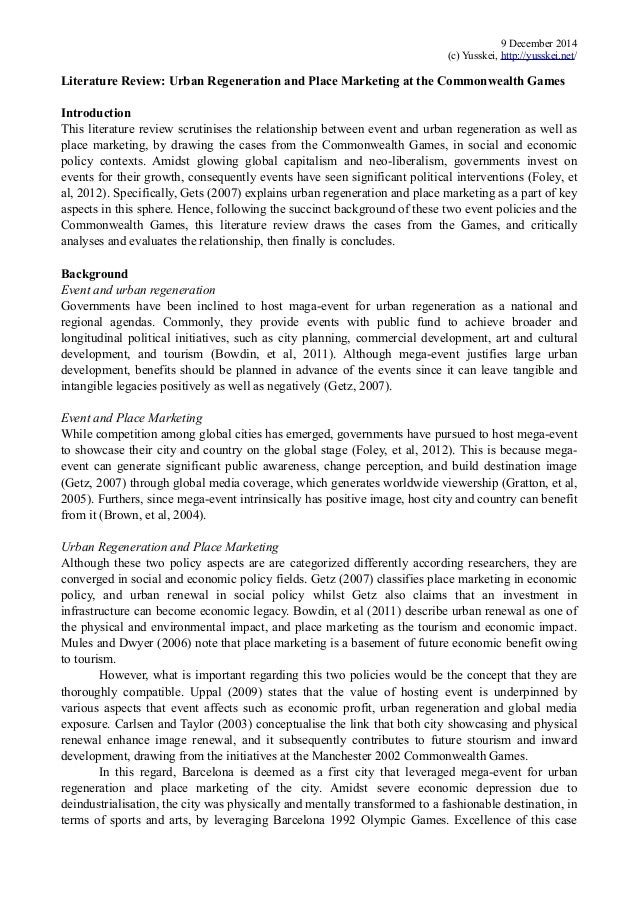 urban regeneration essay These two themes of urban regeneration are, indeed, complementary insofar they allow a work in the fields of social development and improvement of environment the first aims at making the inhabitants reach training and employment and the second tends to support their maintenance on the spot and attract new residents, by improving the quality of [].