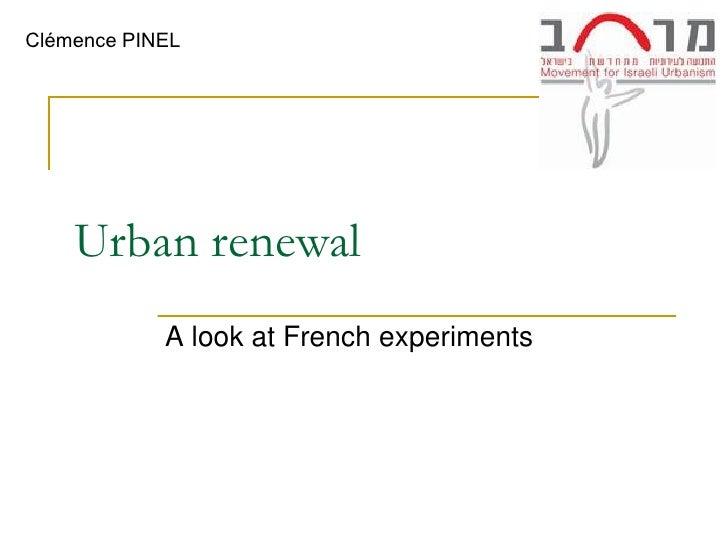 Urban renewal in France