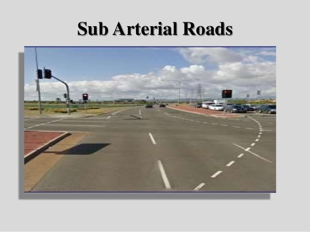 Urban roads sub arterial roads 34 sciox Choice Image