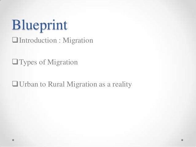 Is urban to rural migration going to be a reality blueprintintroduction malvernweather Images