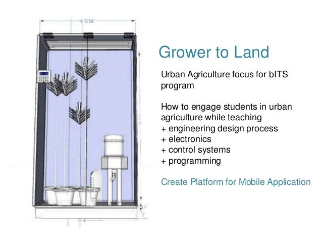 Grower to LandUrban Agriculture focus for bITSprogramHow to engage students in urbanagriculture while teaching+ engineerin...