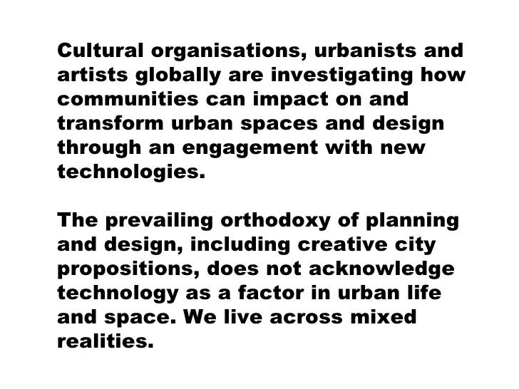 effect of technology on urban spaces Environmental planning for sustainable urban development environmental planning for sustainable urban from the potentially deleterious effects of human.
