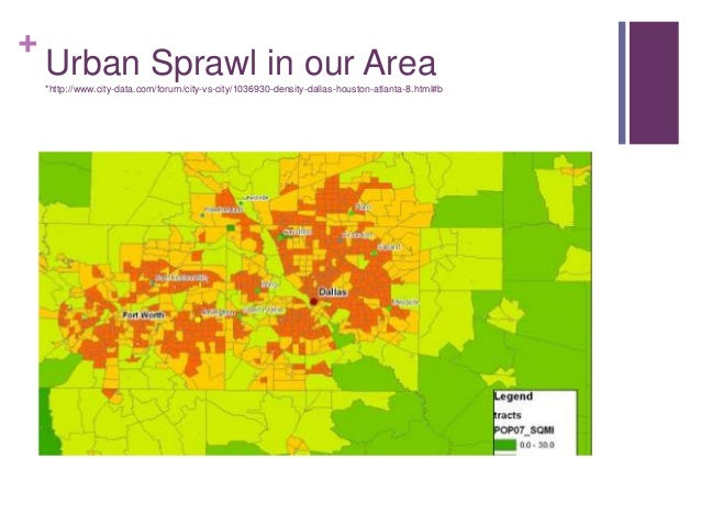 What's the solution to urban sprawl?