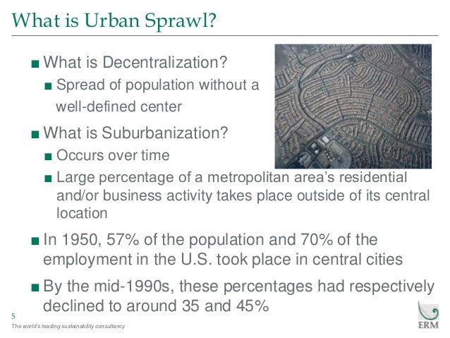 a description of job sprawl Job sprawl in northeast pennsylvania a rebuttal of the brookings institution report on job sprawl revisited september 2009.