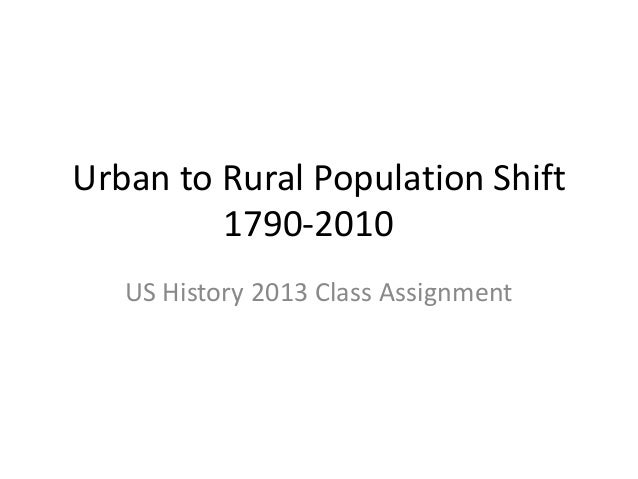 Urban to Rural Population Shift 1790-2010 US History 2013 Class Assignment