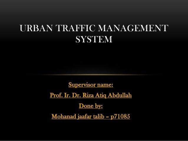 traffic management essay