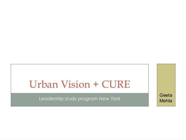 Leadership study program New York Urban Vision + CURE Geeta Mehta