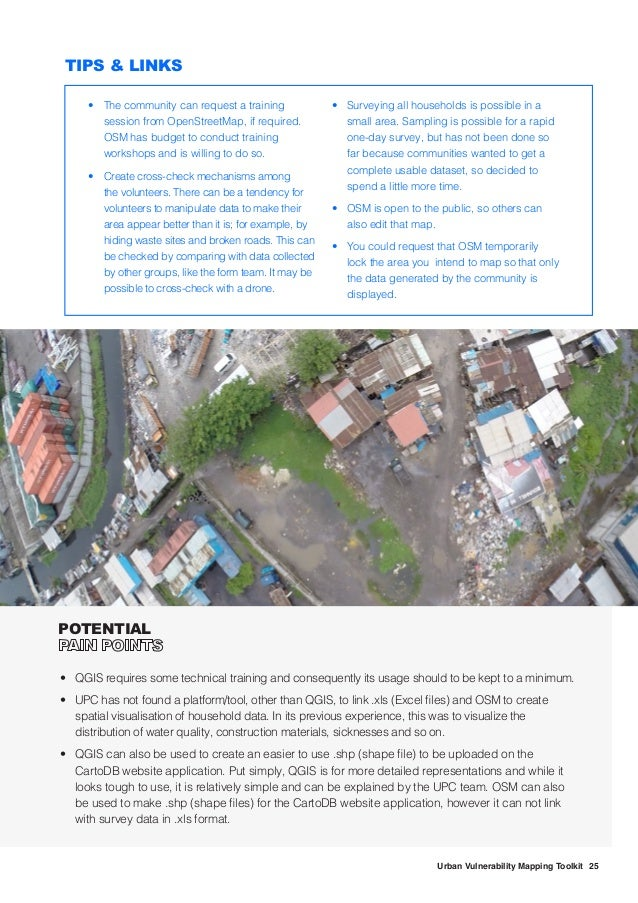 26 Urban Vulnerability Mapping Toolkit Data Visualisation There can be disagreements on how to consolidate data, its forma...