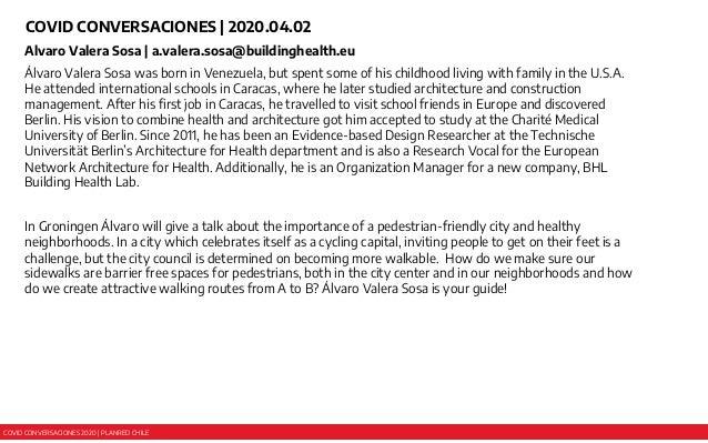 COVID CONVERSACIONES 2020 | PLANRED CHILE COVID CONVERSACIONES | 2020.04.02 Alvaro Valera Sosa | a.valera.sosa@buildinghea...
