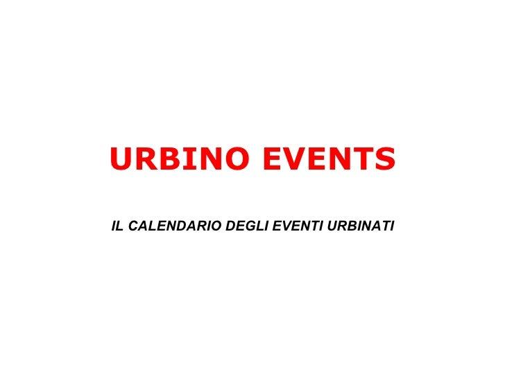 Urbino we like