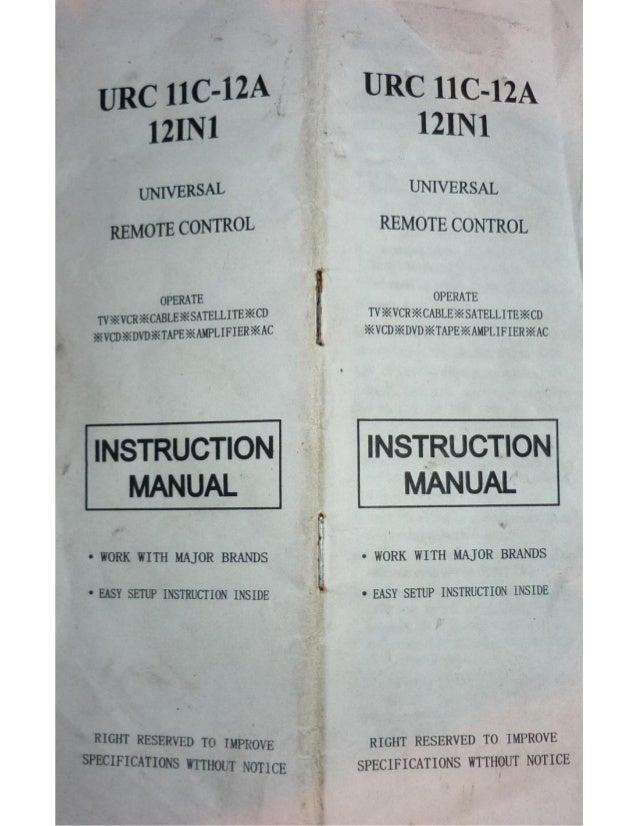 Control universal urc11c 12a manualidades