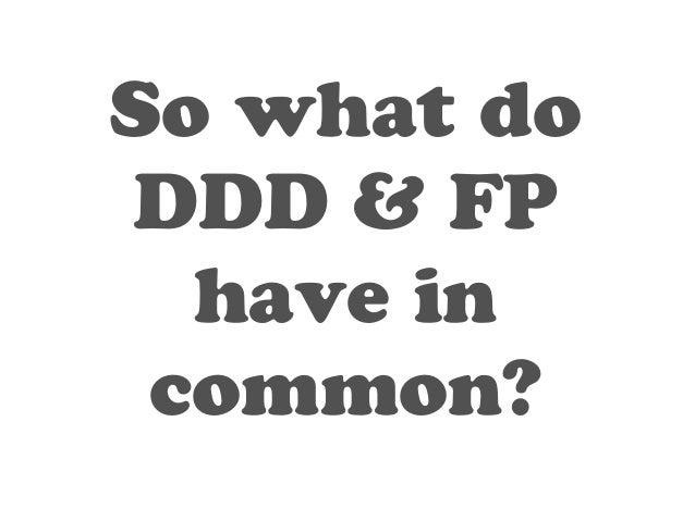 DDD  FP  (OO)