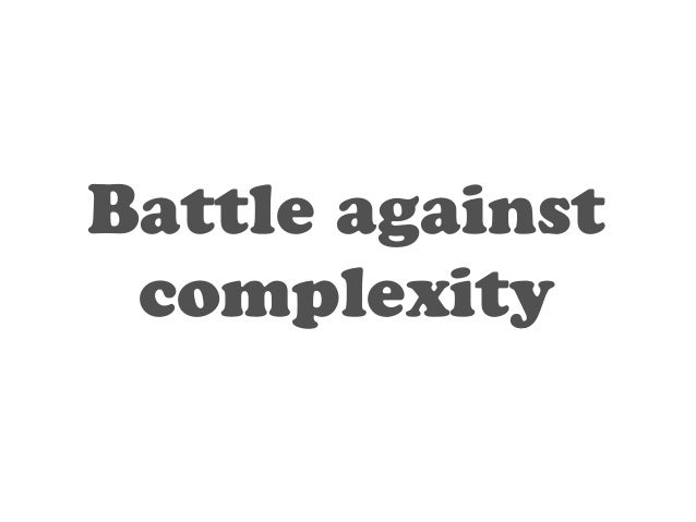 Scalable in  complexity