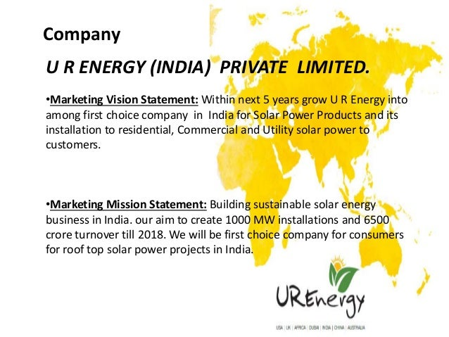 Marketing Plan - Solar Company