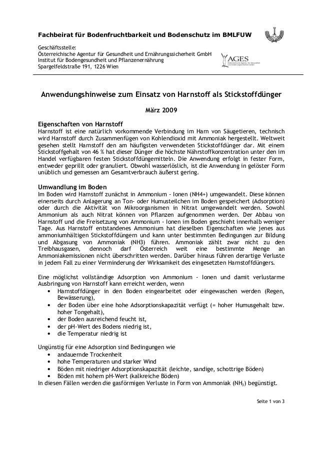 Seite 1 von 3 Fachbeirat für Bodenfruchtbarkeit und Bodenschutz im BMLFUW Geschäftsstelle: Österreichische Agentur für Ges...