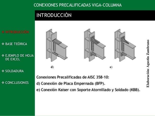 Diseño De Conexiones Viga Columna En Estructuras Metalicas