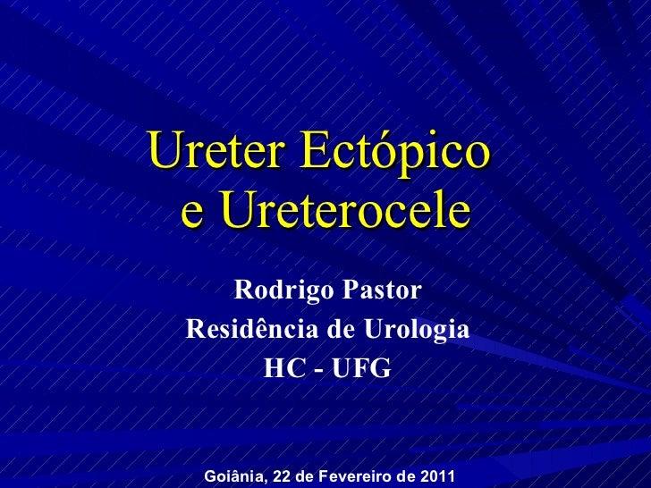 Ureter Ectópico  e Ureterocele Rodrigo Pastor Residência de Urologia HC - UFG Goiânia, 22 de Fevereiro de 2011