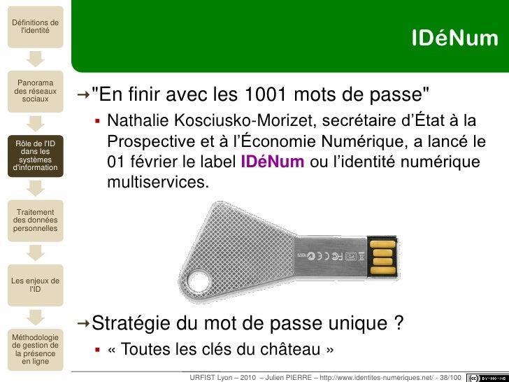 URFIST Lyon – 2010  – Julien PIERRE – http://www.identites-numeriques.net/<br />Le nouveau sésame<br />IDENTIFICATION<br /...