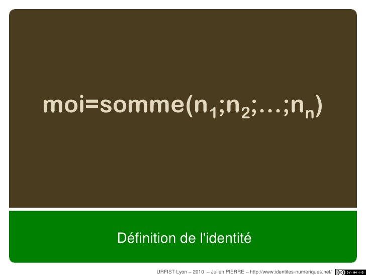 Définitions de l'identité (numérique)