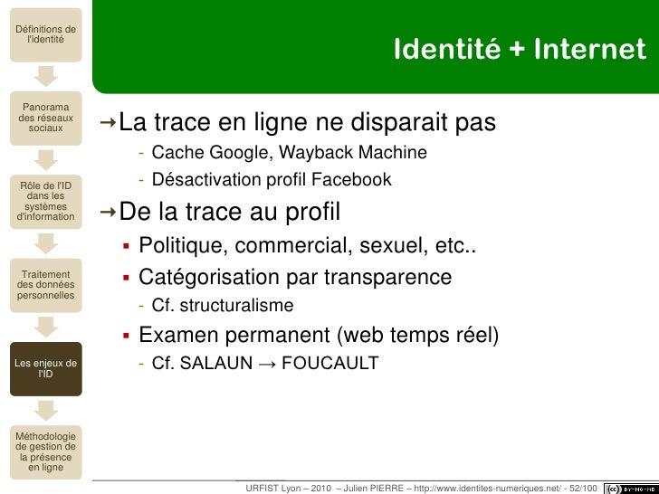 Comment l'identité est-elle déterminée ?<br />Enjeux sociopolitiques<br />URFIST Lyon – 2010  – Julien PIERRE – http://www...