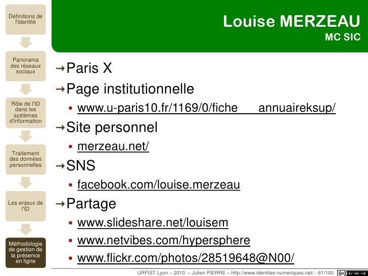 """""""Le contenu, c'est moi !""""<br />méthodologie de la présence en ligne<br />URFIST Lyon – 2010  – Julien PIERRE – http://www...."""