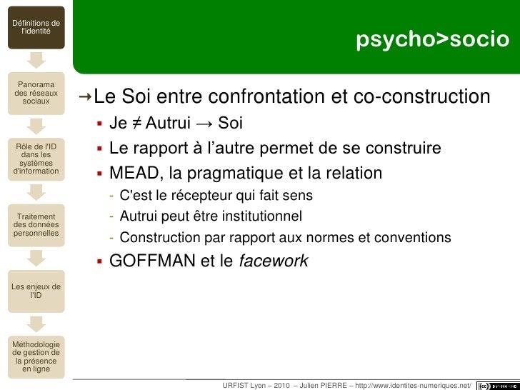 moi=somme(n1;n2;…;nn)<br />Définition de l'identité<br />URFIST Lyon – 2010  – Julien PIERRE – http://www.identites-numeri...