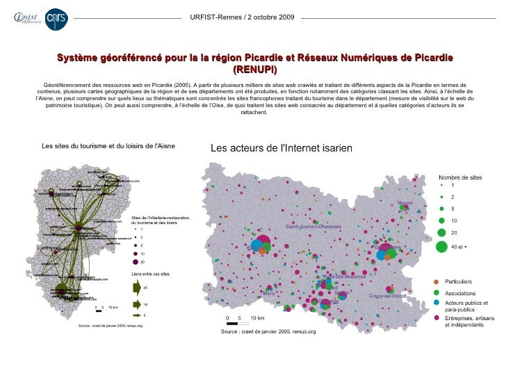 URFIST-Rennes / 2 octobre 2009 Système géoréférencé pour la la région Picardie et Réseaux Numériques de Picardie (RENUPI) ...