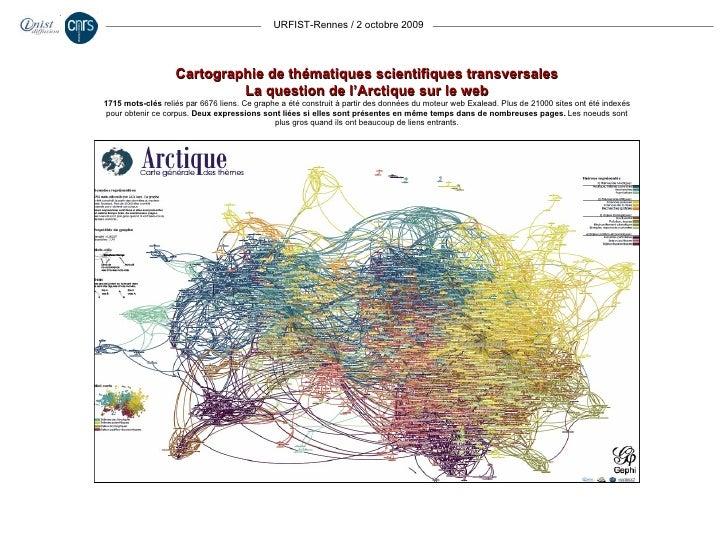 URFIST-Rennes / 2 octobre 2009 Cartographie de thématiques scientifiques transversales La question de l'Arctique sur le we...
