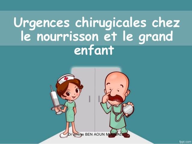 Urgences Chirurgicales Pediatriques Du Nourrisson Et Grand Enfant