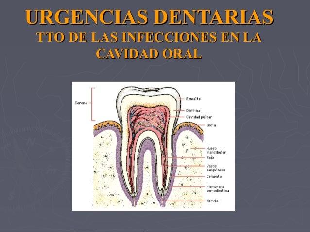 URGENCIAS DENTARIASURGENCIAS DENTARIAS TTO DE LAS INFECCIONES EN LATTO DE LAS INFECCIONES EN LA CAVIDAD ORALCAVIDAD ORAL
