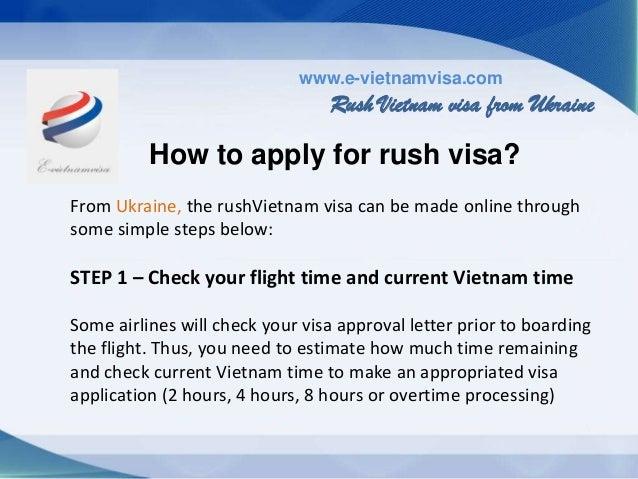 How to get urgent Vietnam visa on arrival from Ukraine?