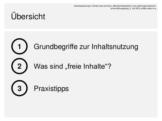 Öffentlichkeitsarbeit statt Öffentlichkeitsklau - Netzinhalte für gemeinnützige Zwecke problemlos verwenden Slide 3