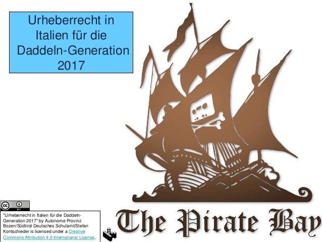 """Urheberrecht in Italien für die Daddeln-Generation 2017 """"Urheberrecht in Italien für die Daddeln- Generation 2017"""" by Auto..."""