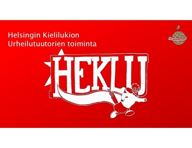 Helsingin Kielilukion Urheilutuutorien toiminta