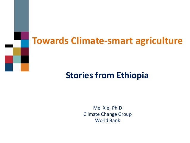 Towards Climate-smart agriculture Mei Xie, Ph.D Climate Change Group World Bank Stories from Ethiopia