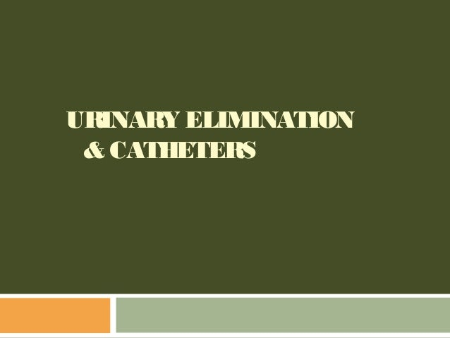 URINARY ELIMINATION & CATHETERS