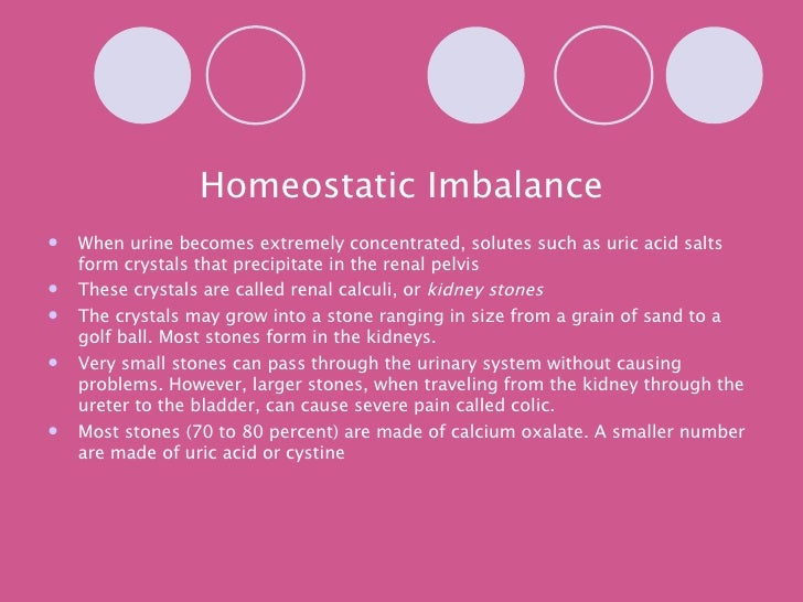 homeostatic imbalances gout Best answer: diseases that result from a homeostatic imbalance include diabetes,dehydration, hypoglycemia, hyperglycemia,gout, and any disease caused by.