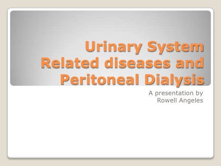 Urinary SystemRelated diseases and Peritoneal Dialysis<br />A presentation by<br />Rowell Angeles<br />