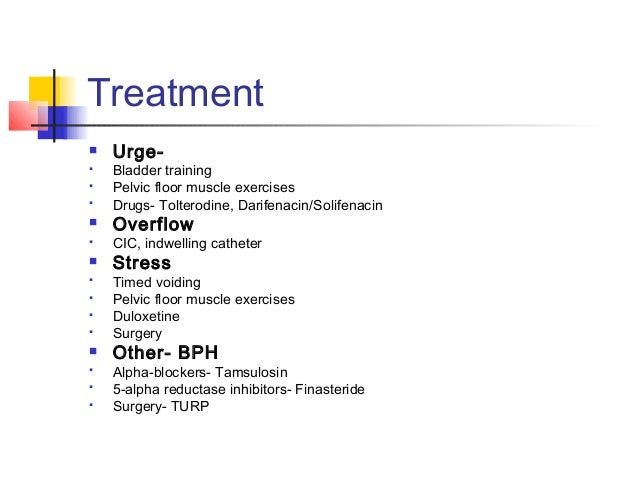 Urinary System Dysfunction