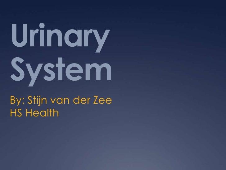 UrinarySystemBy: Stijn van der ZeeHS Health