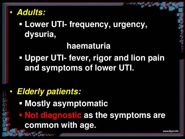 Laboratory examination• Uncontaminated, midstream urine sample  used.• Methods for urine collection:           1. stick on...