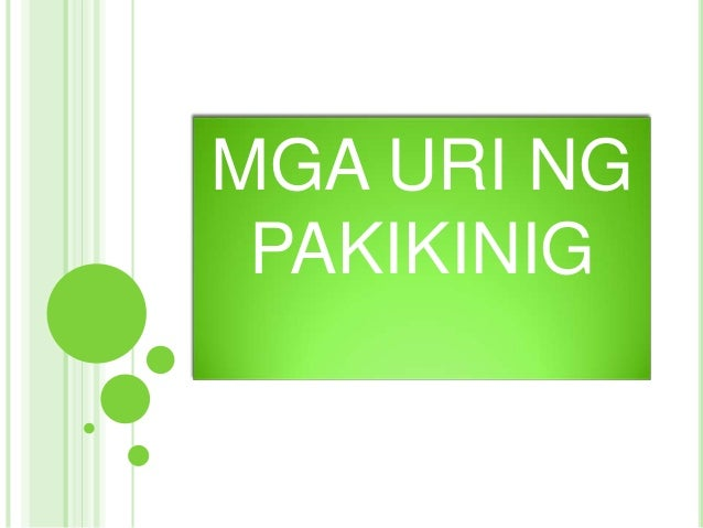 URI NG PAKIKINIG PDF DOWNLOAD