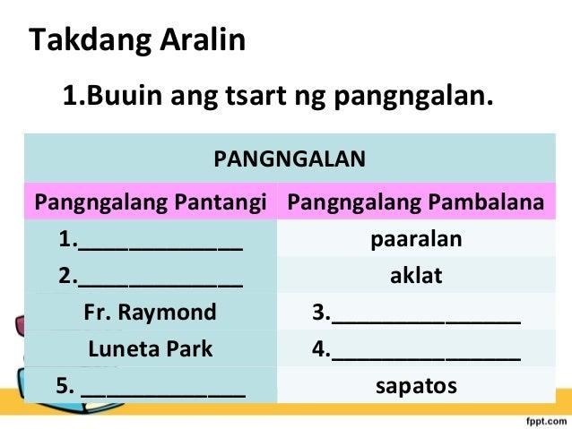 pang uri in english