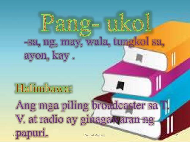 11/29/2016 Denzel Mathew 13 -sa, ng, may, wala, tungkol sa, ayon, kay . Ang mga piling broadcaster sa T. V. at radio ay gi...