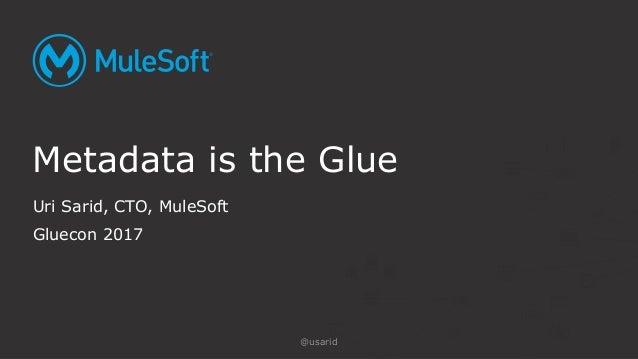 Uri Sarid, CTO, MuleSoft Gluecon 2017 Metadata is the Glue @usarid