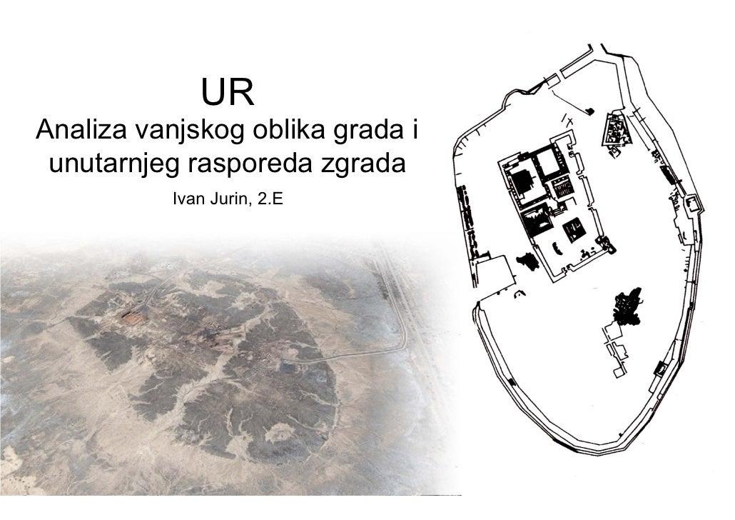 UR Analiza vanjskog oblika grada i  unutarnjeg rasporeda zgrada            Ivan Jurin, 2.E