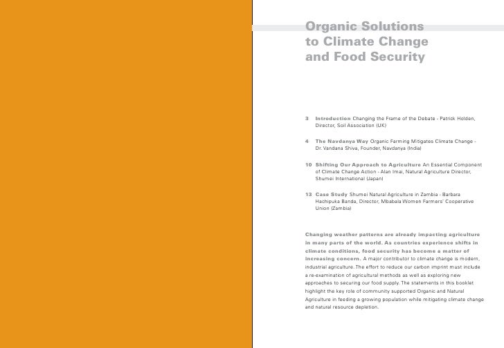 organic solutions to global warming and food security organic solutions to climate changeand food security 2
